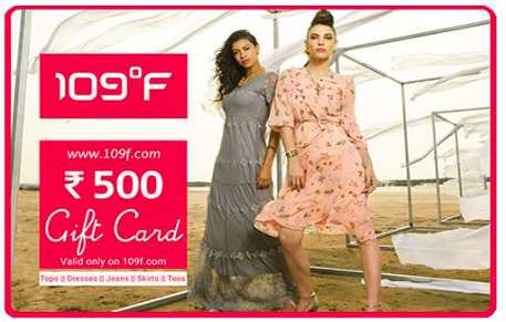 109F giftcard, cashback and offers