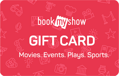 BookMyShow giftcard, cashback and offers