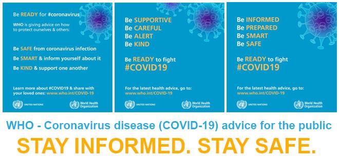 Corona virus advise
