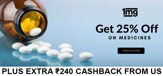 indiancashback-1mg-Coupon-Code--Get-Flat-25percent-off-on-Allopathy-Medicines----Additional-Rs-240-cashback-from-us