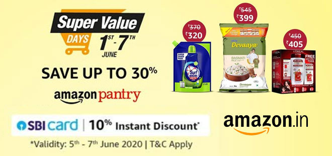indiancashback-Amazon-Offer--Up-To-30percent-OFF-on-Groceries---10percent-Instant-Discount-When-You-Pay-With-ICICI-Bank-Credi