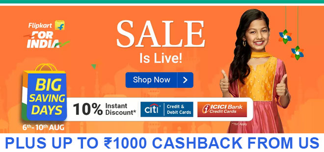 indiancashback-Big-Saving-Days-Offer--Up-To-85percent-OFF-on-All-Products---10percent-Instant-Discount-When-You-Pay-Via-Citi-