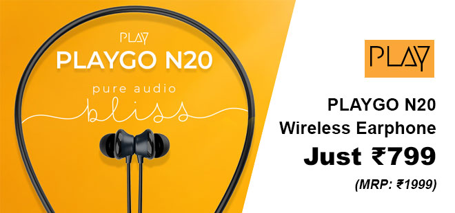 indiancashback-Buy-PLAYGO-N20-Wireless-Earphone---just-Rs-1499---Additional-Rs-700-cashback-from-us