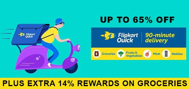 indiancashback-Flipkart-Quick-Offer--Get-Up-To-65percent-OFF-on-Fruits---Vegetables---Additional-14percent-cashback-from-us