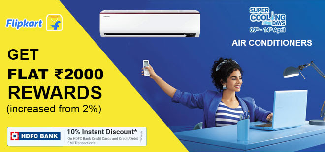 indiancashback-Flipkart-Super-Cooling-Days--Get-Up-To-65percent-OFF-on-Refrigerators---Extra-10percent-Instant-Discount-with-