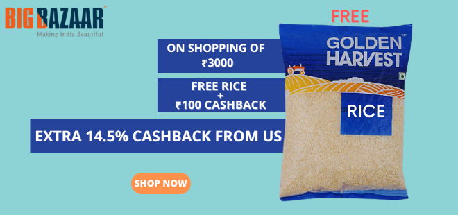 indiancashback-Get-FREE-Chawal---Extra-Rs-100-Cashback-on-Orders-Above-Rs-3000---Additional-14-5percent-cashback-from-us
