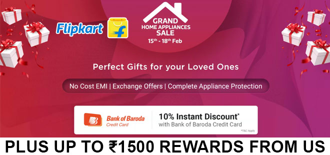 indiancashback-Grand-Home-Appliances-Sale--Up-To-80percent-OFF---Extra-10percent-Instant-Discount-on-Bank-of-Baroda-Credit-Ca