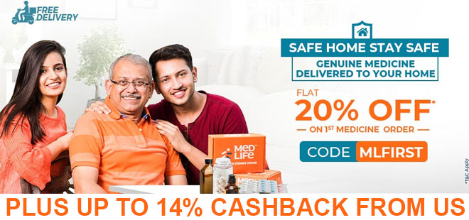indiancashback-Medlife-Coupon-Code--Get-FLAT-20percent-OFF--New-User----Additional-14percent-cashback-from-us