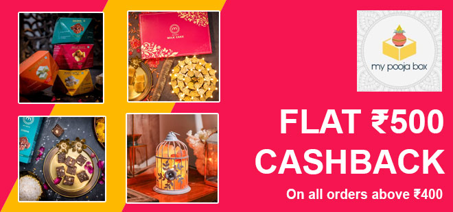 indiancashback-My-Pooja-Box-Offers--Gift-Box-Price-Starts-From-Rs-199---Up-to-Rs-500-cashback-from-us