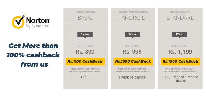 indiancashback-Norton-Security-Offer--1-Year-Basic-Subscription---Just-Rs-899-Only---Additional-Rs-1100-cashback-from-us