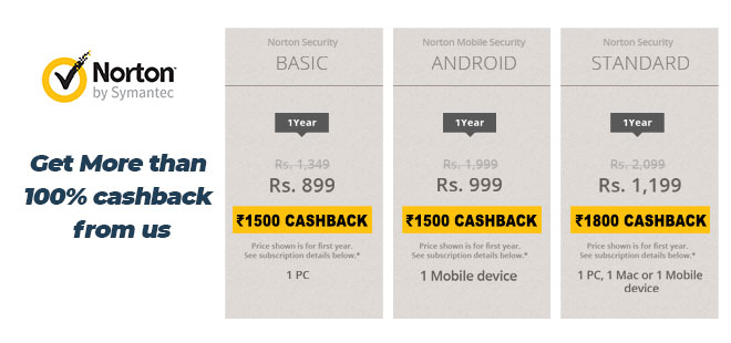indiancashback-Norton-Security-Offer--1-Year-Basic-Subscription---Just-Rs-899-Only---Additional-Rs-1500-cashback-from-us