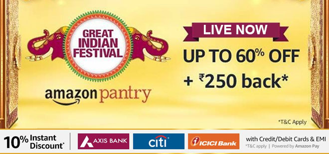 indiancashback-Pantry-Deal--Shop-for-Rs-2000-or-above-and-get-Flat-Rs-250-back-as-amazo-pay-balance---Additional-9percent-rew