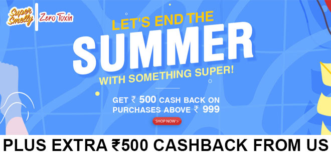indiancashback-Super-Smelly-Offer--Get-20percent-OFF-on-All-Purchases---Up-to-Rs-500-cashback-from-us