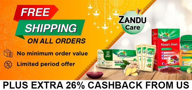 indiancashback-Zandu-Care-Offer--Free-Shipping-on-all-orders---Additional-26percent-cashback-from-us
